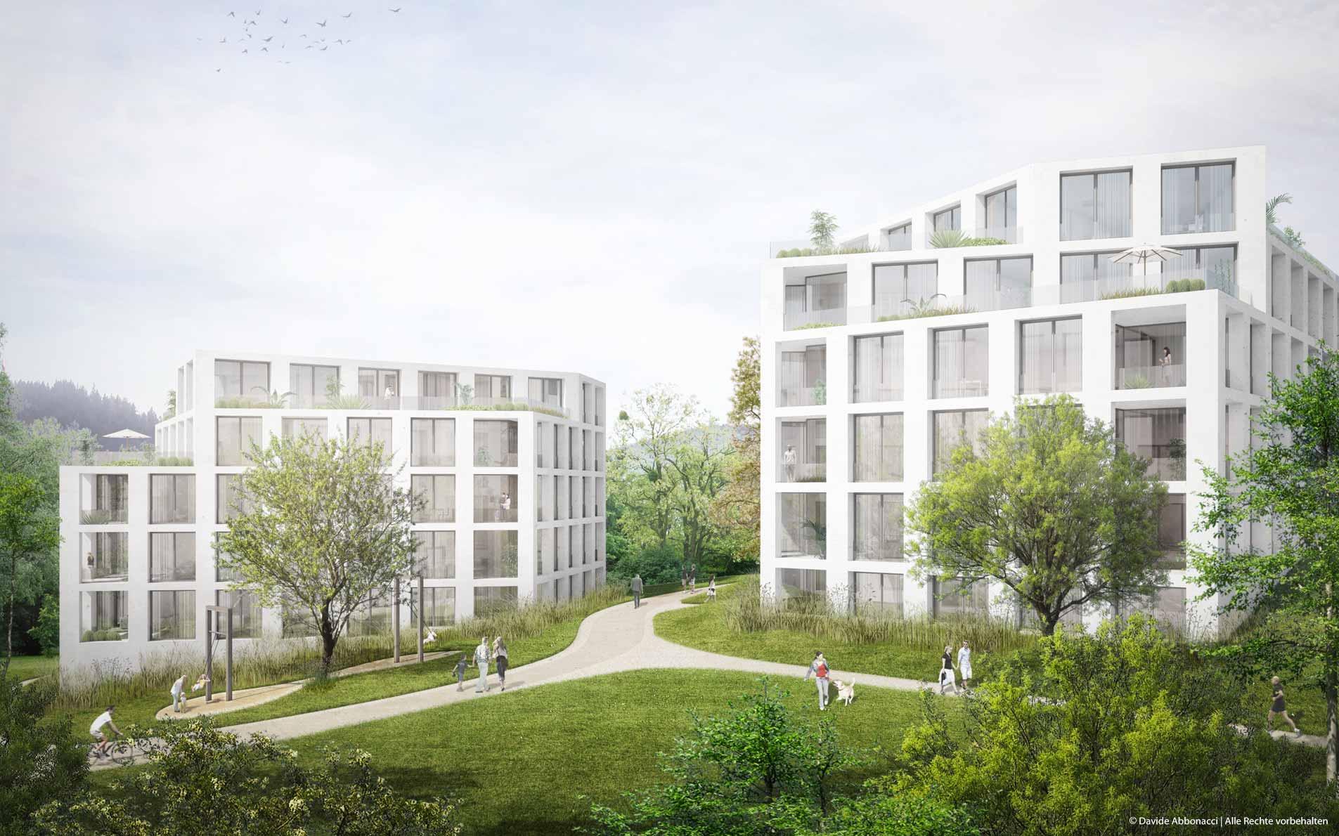 Am Tannenhof, Baden-Baden | Kuehn Malvezzi Architekten | 2015 Wohnungsbauprojekt Visualisierung