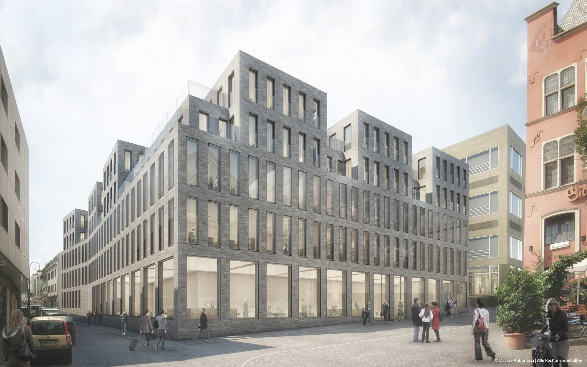 Erweiterungsbau Wallraf-Richartz-Museum, Köln | Georg Scheel Wetzel Architekten | 2013 Wettbewerbsvisualisierung | Ankauf