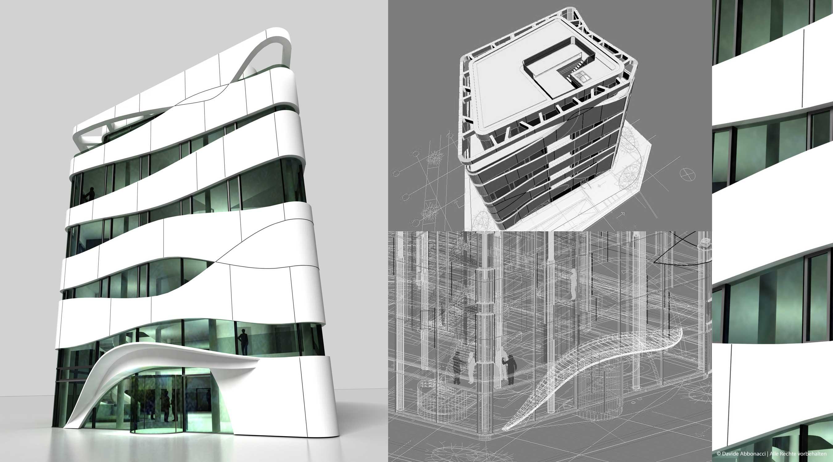 Otto Bock Healthcare, Berlin Mitte   Gnädinger Architekten   2007 Fassadenstudie und Baudetails