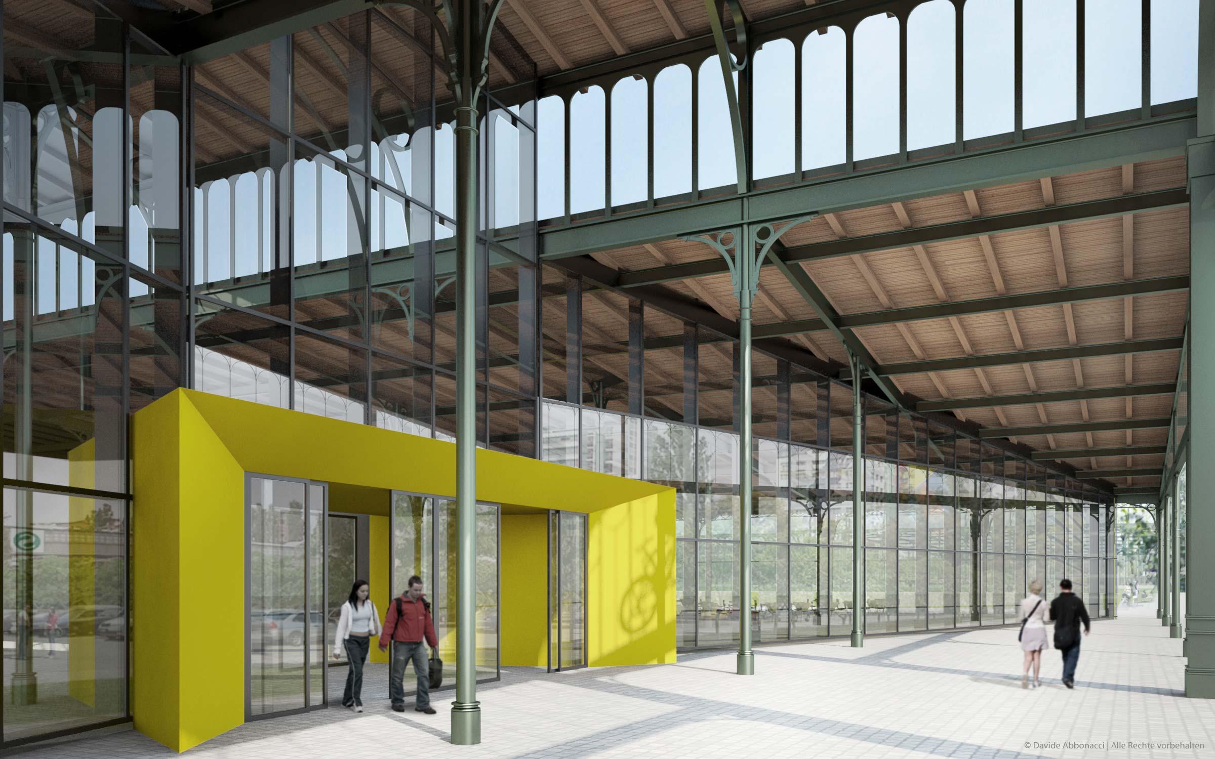 Umbau ehemalige Rinderauktionshalle, Berlin - Prenzlauer Berg   Gnädinger Architekten   2009 Fassadenstudie und Baudetails
