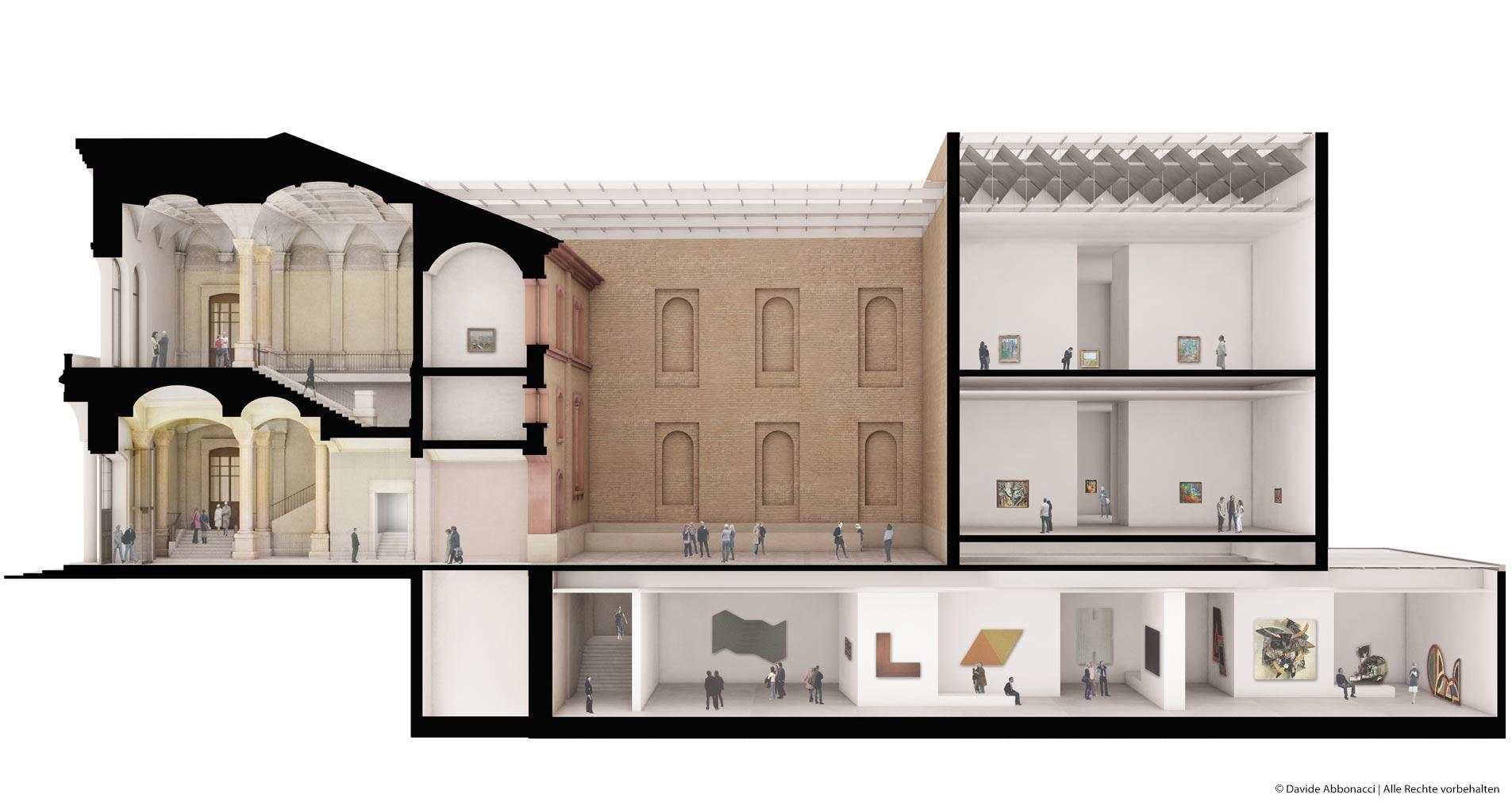 Staatliche Kunsthalle Karlsruhe   Kuehn Malvezzi Architekten   2012 Wettbewerbsvisualisierung