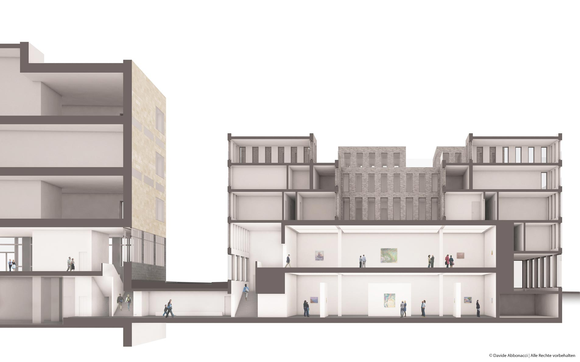 Erweiterungsbau Wallraf-Richartz-Museum, Köln   Georg Scheel Wetzel Architekten   2013 Wettbewerbsvisualisierung   Ankauf