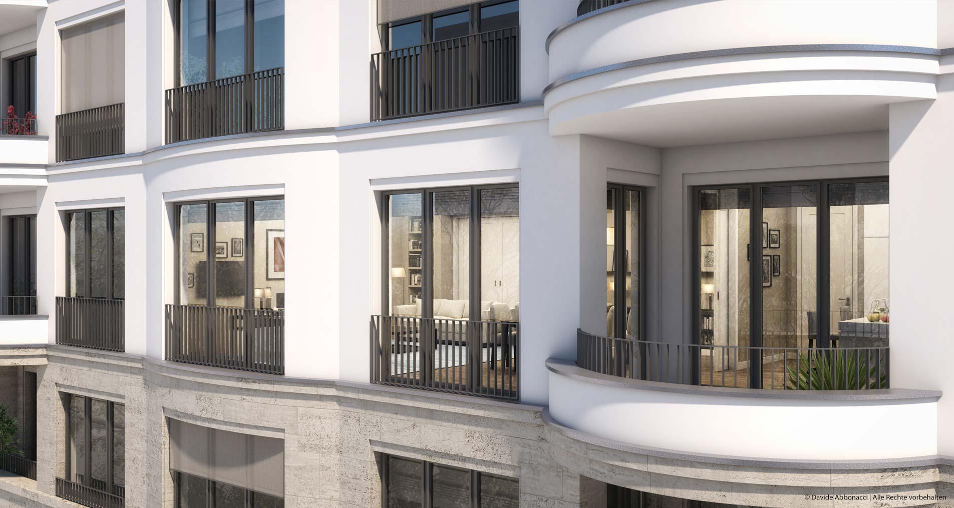 Faisan63, Fasanenstraße, Berlin   Wiegand Hoffmann Architekten - PRIMUS Immobilien AG   2016 Visualisierung für Immobilienmarketing