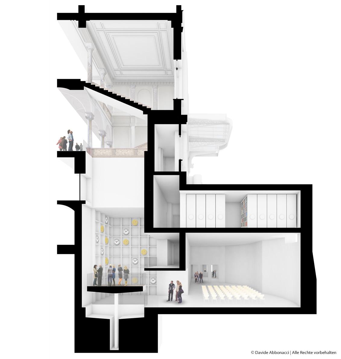 Villa Maraini, Rom, Italien   Kuehn Malvezzi Architekten   2013 Wettbewerbsvisualisierung