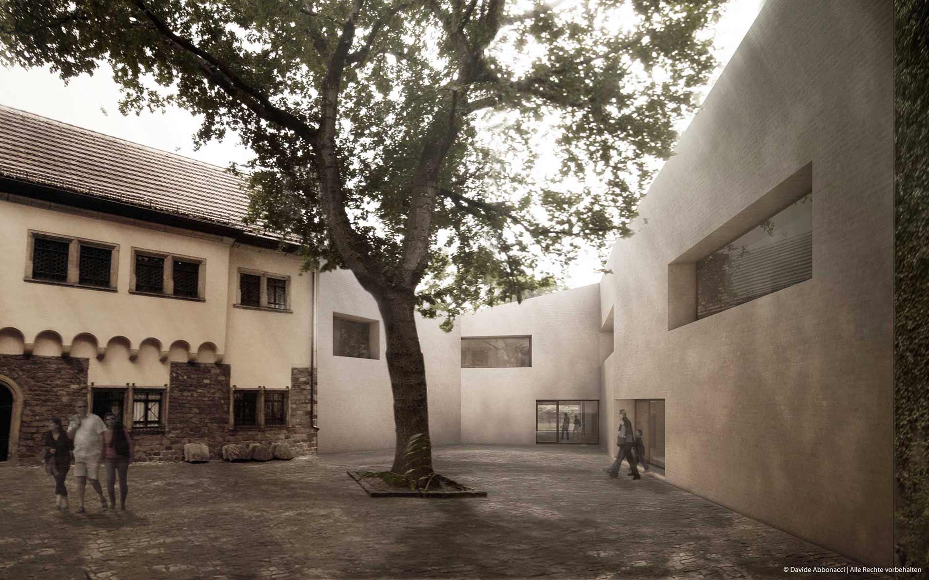 Martin Luther Sterbehaus, Eisleben | Bruno Fioretti Marquez Architekten | 2009 Wettbewerbsvisualisierung | 2. Preis