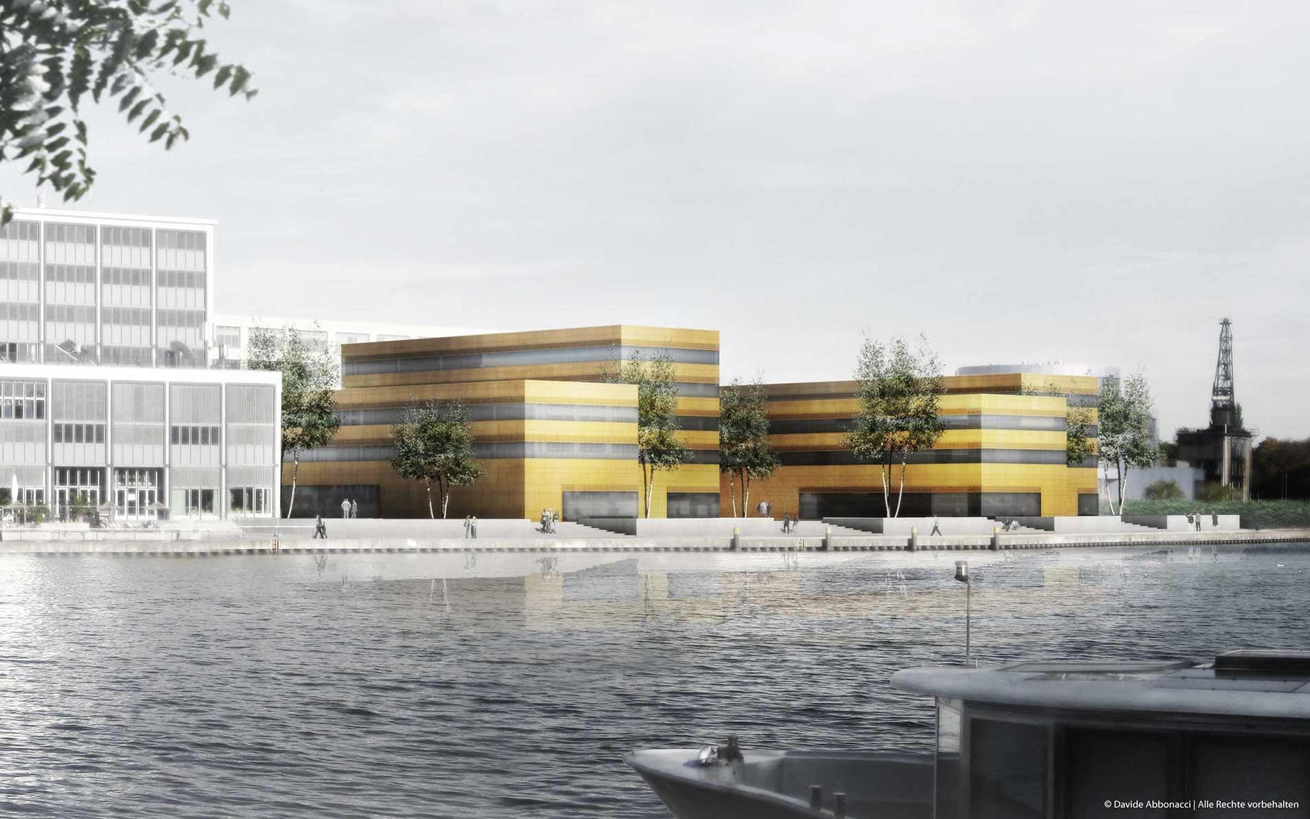 Neubau eines Institutsgebäudes für das FKI an der HTW Berlin | Numrich Albrecht Klumpp Architekten | 2010 Wettbewerbsvisualisierung | 1. Preis