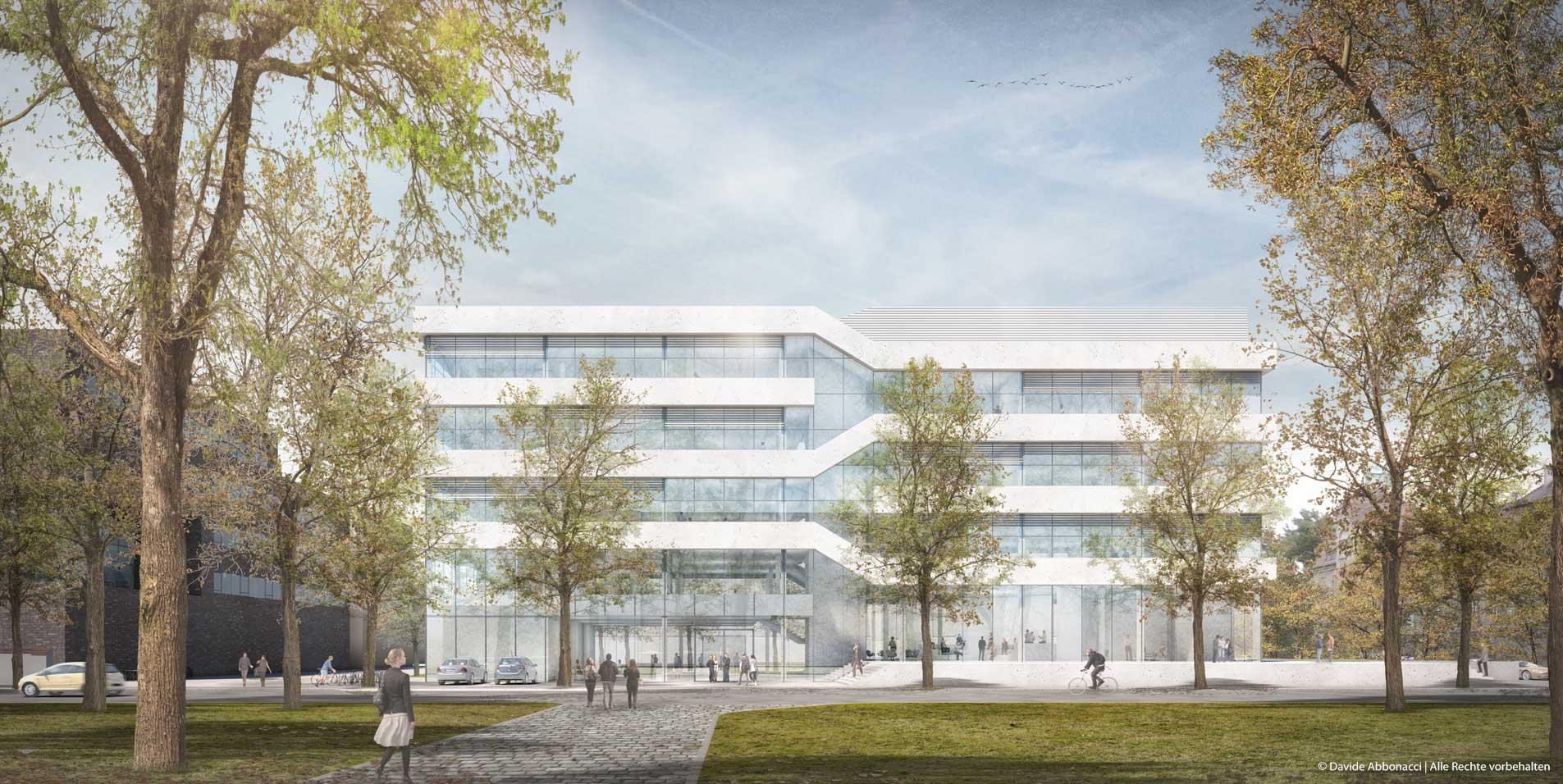 Der Simulierte Mensch – Charité / TU, Berlin   Erchinger Wurfbaum Architekten, Schmieder Dau Architekten   2018 Wettbewerbsvisualisierung   3. Preis