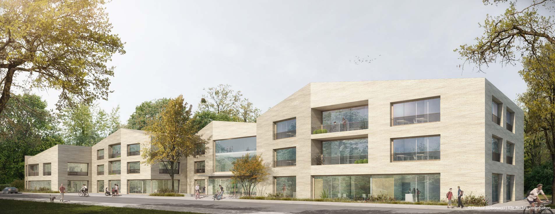 Sonderschule Pankow, Berlin | Erchinger Wurfbaum Architekten | 2017 Wettbewerbsvisualisierung | 3. Preis