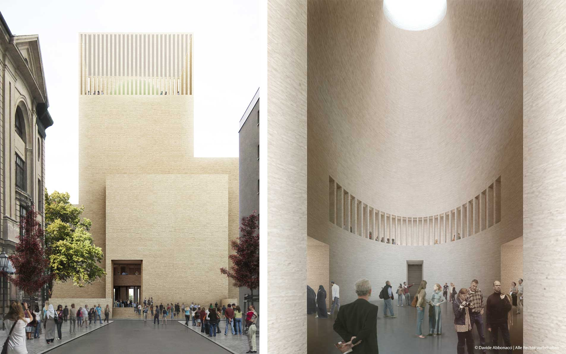 Bet- und Lehrhaus Petriplatz, Berlin   Kuehn Malvezzi Architekten   2012 Wettbewerbsvisualisierung   1. Preis