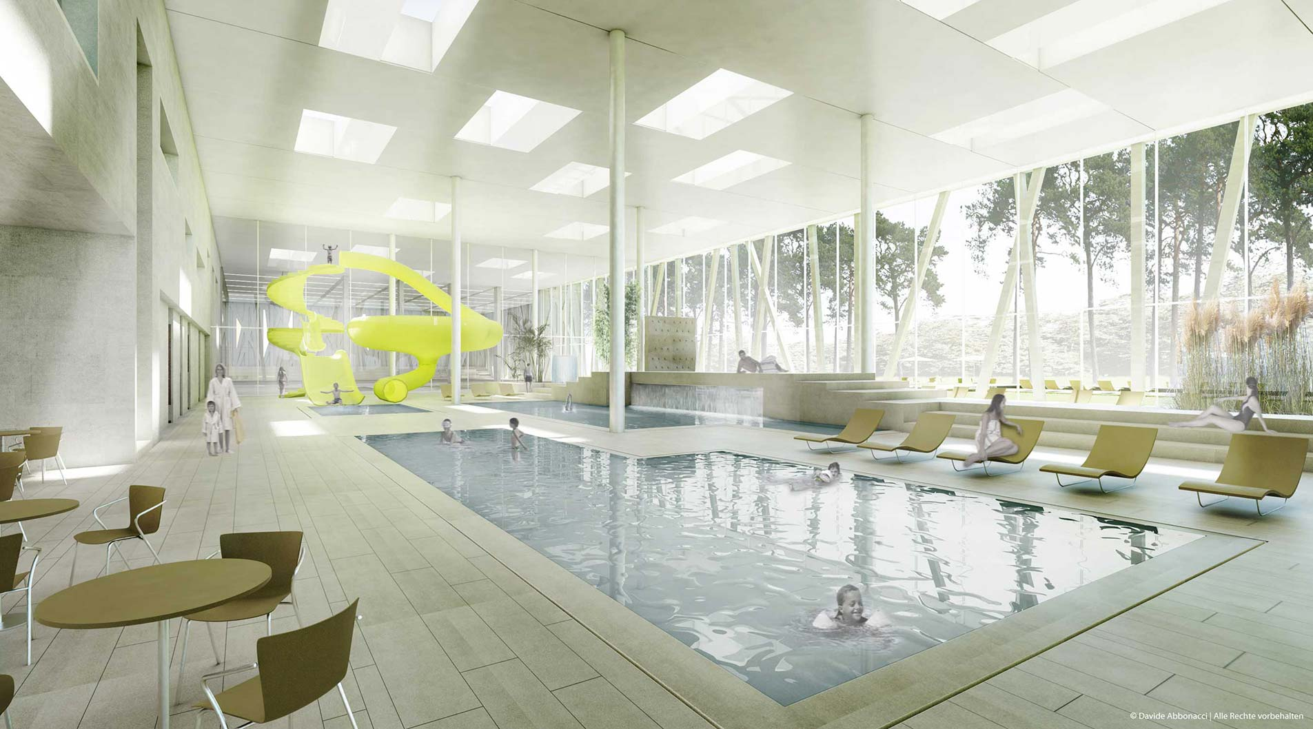 Neubau eines Sport und Freizeitbades, Potsdam | gmp Architekten von Gerkan, Marg und Partner | 2010 Wettbewerbsvisualisierung | Finalist