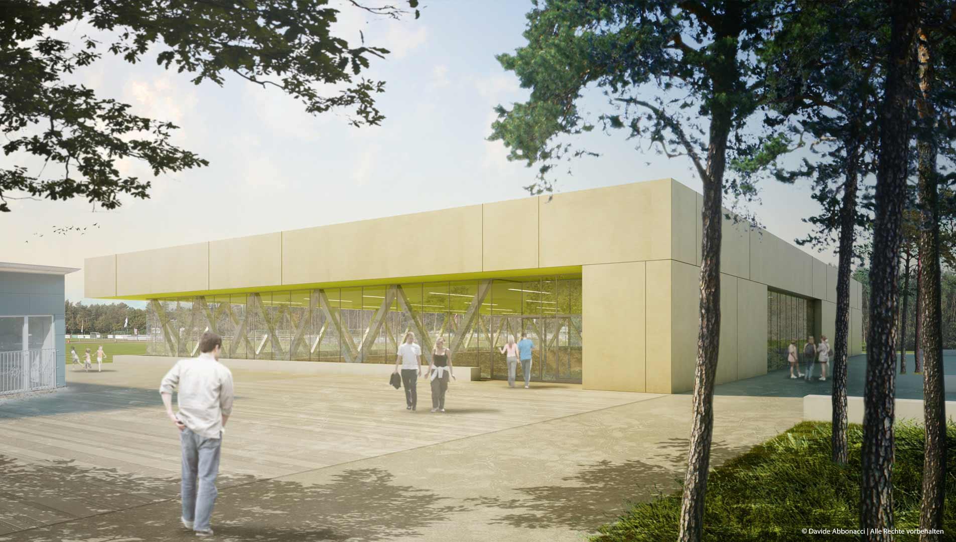 Sporthalle Borgsdorf, Berlin | Numrich Albrecht Klumpp Architekten | 2012 Projektvisualisierung