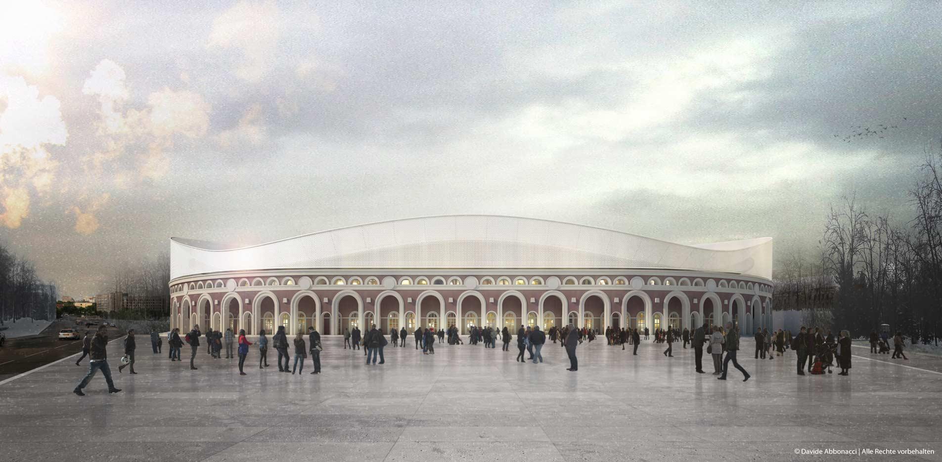 Umbau Stadium Minsk, Weißrussland | gmp Architekten von Gerkan, Marg und Partner | 2013 Visualisierung Projektzwischenstand