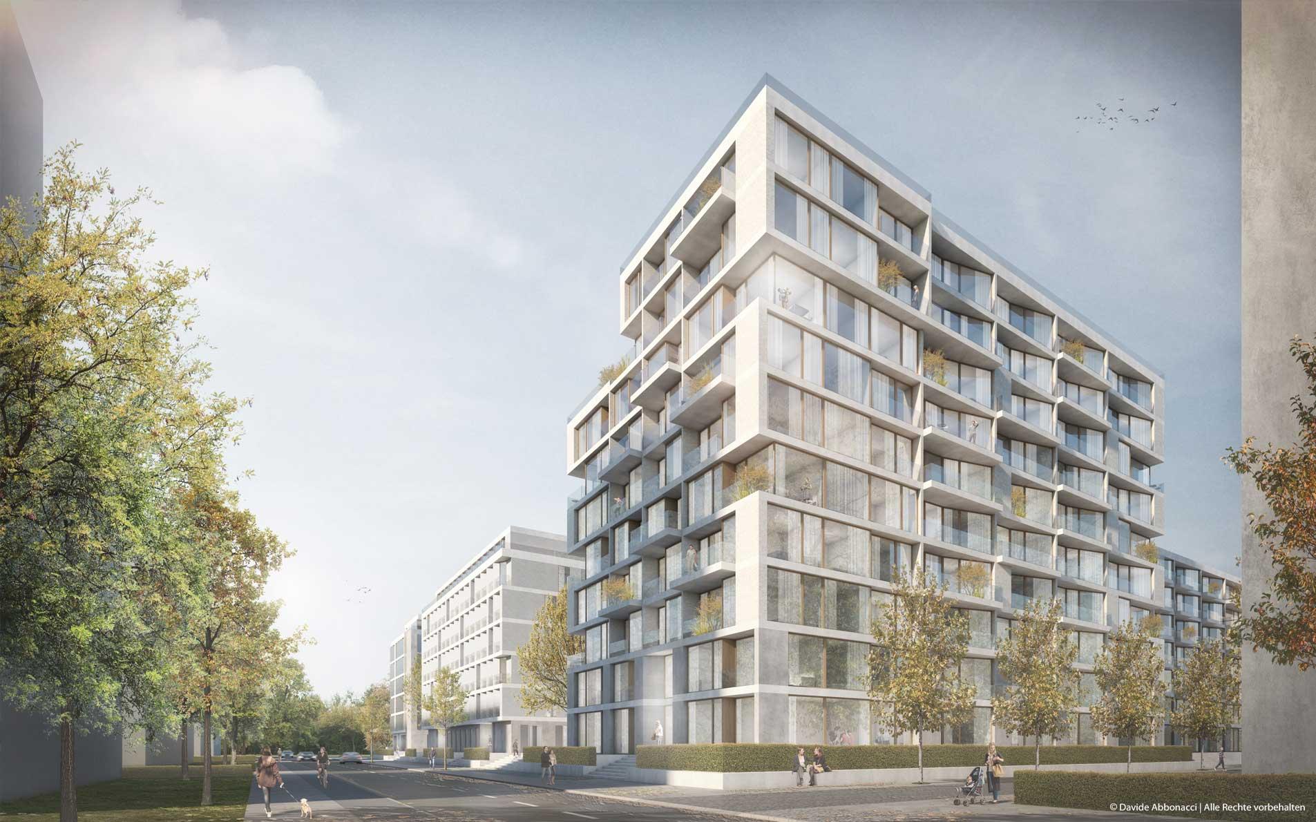 Collective Diversity, Carossa Areal, Spandau | Dierks & Cramer Architekten | 2019 Wettbewerbsvisualisierung | 1. Preis