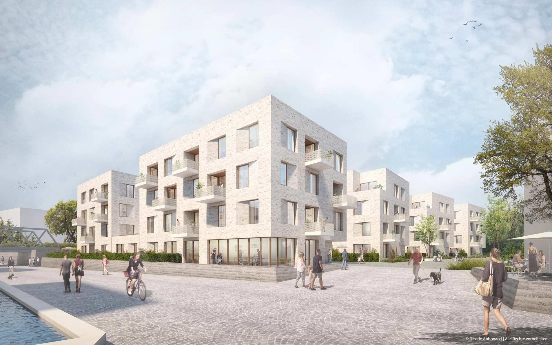 Urbanes Leben am Papierbach, Landsberg am Lech | Guder Hoffend Architekten | 2017 Wettbewerbsvisualisierung