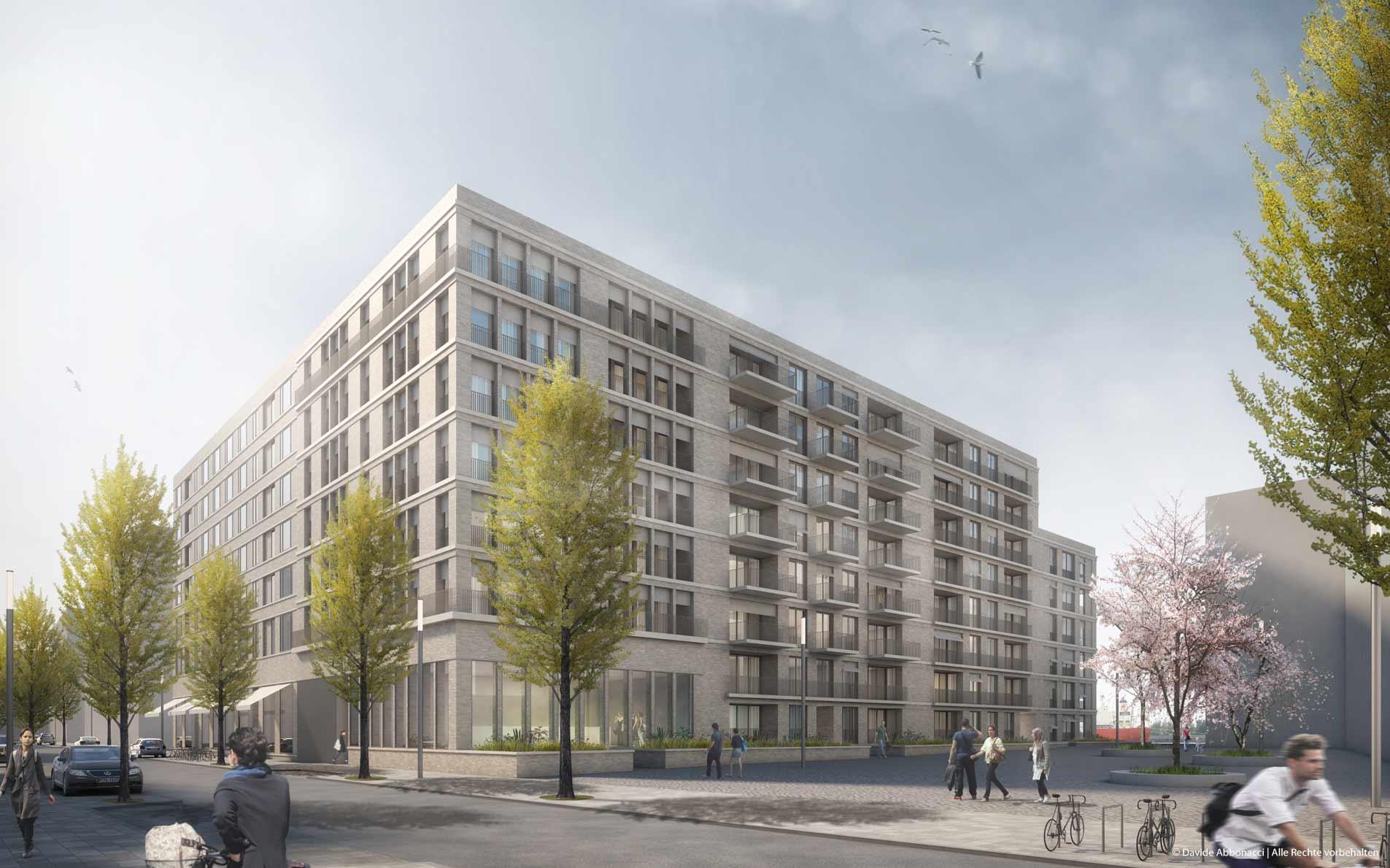 Baakenhafen, Baufeld 95, Hamburg | Georg Scheel Wetzel Architekten | 2015 Wettbewerbsvisualisierung | 3. Preis