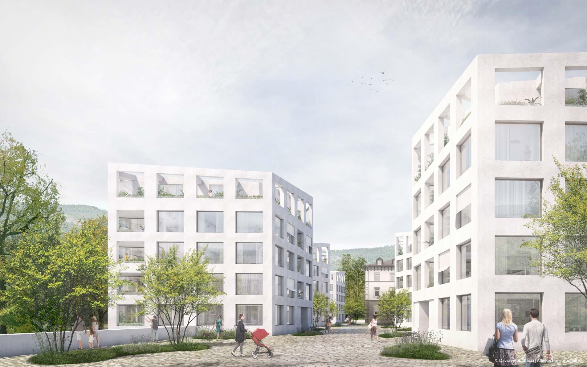 Am Tannenhof, Baden-Baden | Kuehn Malvezzi Architekten | 2018 Wohnungsbauprojekt Visualisierung