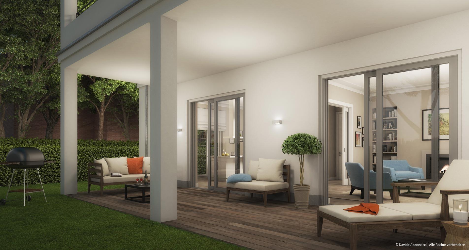 Neubau Villa, Auguste-Viktoria-Straße, Berlin | Wiegand Hoffmann Architekten - PRIMUS Immobilien AG | 2016 Visualisierung für Immobilienmarketing