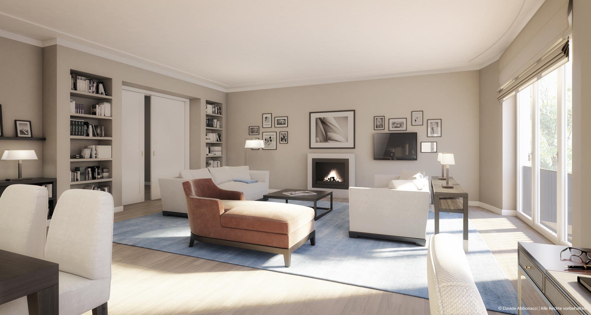 Faisan63, Fasanenstraße, Berlin | Wiegand Hoffmann Architekten - PRIMUS Immobilien AG | 2016 Visualisierung für Immobilienmarketing